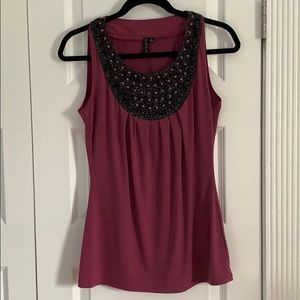 Sioni Tops | Sleeveless Blouse | Rose | Small